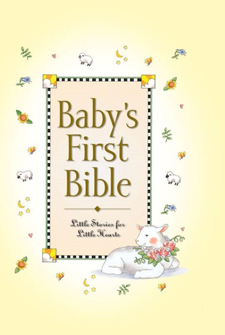 """<p><span data-mce-fragment=""""1"""">With a charming foil-stamped and embossed cover, """"Baby's First Bible"""" is a wonderful way to introduce young children to the precious stories of God's Word. Full color.</span></p> <p>Perfectly-sized for little hands and specially written for little hearts,<span></span><em>Baby's First Bible</em><span></span>is perfect for naptime, bedtime, mealtime, and story time. Colorful, playful illustrations accompany each engaging bible story, and the rhyming text make this little gem of a Bible the one your son and daughter, and granddaughters and grandsons, will remember.</p> <p><em>Baby's First Bible</em></p> <ul> <li>Includes both Old and New Testament Bible stories</li> <li>Is perfect for small children ages 2-5 years-old, and from preschool, to kindergarten</li> <li>Is ideal for commemorating your little one's birth, baptism, first birthday, or First Communions</li> <li>Makes an unforgettable gift for baby dedications, baby showers, Christenings, Easter baskets, and Christmas stockings</li> <li>Uses simpler words and shorter sentences making the text easy to read and understand</li> <li><span>0.6"""" H x 6.1"""" L x 4.3"""" W (0.35 lbs) </span></li> <li><span>96 pages</span></li> </ul>"""