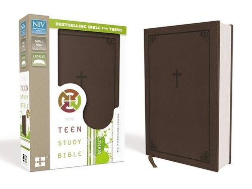 """<p>This Bible keeps up with you, to help you keep up with God As an on-the-go teen, you're moving fast. God is moving faster The <em>NIV Teen Study Bible</em> will help you keep in step with all he has done, is doing, and will do in the world--and in your life. This bestselling Bible will also help you discover the eternal truths of God's Word and apply them to the issues you face today. Features include: </p><ul> <li> <strong>""""We Believe""""</strong>--Unpacks the Apostles' Creed to reveal the biblical foundation of faith</li> <li> <strong>""""Panorama""""</strong>--Keeps the big picture of each book of the Bible in view</li> <li> <strong>Topical indexes</strong>--Help with in-depth Bible study</li> <li> <strong>Book introductions</strong>--Provide an overview for each book of the Bible</li> <li> <strong>Bible </strong>Promises--Highlighted Bible verses worth memorizing</li> <li> <strong>Q and As</strong>--Test Bible knowledge</li> <li> <strong>4 full-color pages</strong>--Includes a presentation page and information about the Apostles' Creed</li> <li><strong>8-page, color map section </strong></li> <li> <strong>Biblical advice</strong> about friends, family, school, and other issues</li> <li> <strong>Complete text</strong> of the New International Version (NIV) of the Bible.</li> </ul><p>With over 3 million copies sold, the <em>NIV Teen Study Bible</em> continues to be a teen's top resource for discovering the foundational truths of the Bible.</p><br><br><b>Bible Version:</b> New International<br><b>Author:</b> Lawrence O. Richards, Zondervan<br><b>Publisher:</b> Zondervan<br><b>Published:</b> 06/24/2014<br><b>Pages:</b> 1614<br><b>Weight:</b> 1.45lbs<br><b>Size:</b> 7.80h x 5.40w x 1.60d<br><b>ISBN:</b> 9780310747109<br><b>Binding Material:</b> Leather<br><b>Bible Portion:</b> Complete Without Apocrypha"""