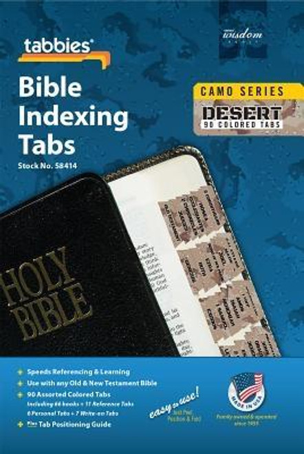 Old & New Testament, 90 Assorted Tabs Including 66 Books & 11 Reference Tabs, 6 Personal Tabs & 7 Write-on Tabs. <br><b>Author:</b> Tabbies<br><b>Publisher:</b> Tabbies<br><b>Published:</b> 03/02/2017<br><b>Binding Type:</b> Other<br><b>Weight:</b> 0.04lbs<br><b>Size:</b> 6.80h x 4.10w x 0.01d<br><b>ISBN:</b> 0084371584147