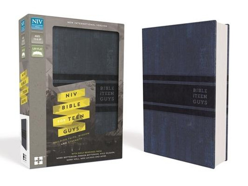 <p><strong>Support his personal devotion time with tools and insights from leading authors and Christian thinkers like Mark Batterson, Kyle Idleman, Mark Hall, Max Lucado, and more</strong></p><p>The <em>NIV Bible for Teen Guys</em>, designed specifically for guys ages 13 to 18, is for real teenage guys with real lives. Packed with daily readings, highlighted promises of God, challenging insights, smart advice, and open discussion about the realities of life, this Bible is designed to help teen guys grow in their faith. The <em>NIV Bible for Teen Guys </em>is as serious about his walk with God as you are, helping him discover God's will for all areas of his life, including relating to family, dealing with friends, work, sports, girls, and so much more.</p><p>Features include: </p><ul> <li>Daily readings for teen guys by popular Christian male authors (Mark Batterson, Kyle Idleman, Mark Hall, Max Lucado, and more)</li> <li>Character profiles of men in the Bible</li> <li>Book introductions for each book of the Bible</li> <li>Highlighted promises of God: verses worth remembering</li> <li>A concordance for help in finding verses</li> <li>The complete text of the bestselling New International Version (NIV) of the Bible</li> </ul><br><br><b>Author:</b> Zondervan<br><b>Publisher:</b> Zondervan<br><b>Published:</b> 10/11/2016<br><b>Pages:</b> 1728<br><b>Binding Type:</b> Imitation Leather<br><b>Weight:</b> 2.65lbs<br><b>Size:</b> 9.30h x 6.30w x 1.80d<br><b>ISBN:</b> 9780310752981