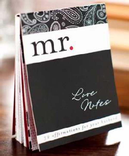 """<p><span style=""""font-weight: 400;"""">Wives, here are 32 ready-to-share messages of joy, love, and affirmation for your husband! Just choose the perfect page, remove it, and leave it where he will discover it. Add a message to the design back of each note for a personal touch. </span></p> <br> <ul> <li style=""""font-weight: 400;""""><span style=""""font-weight: 400;"""">Quality card stock</span></li> <li style=""""font-weight: 400;""""><span style=""""font-weight: 400;"""">3.75"""" x 5""""</span></li> </ul>"""