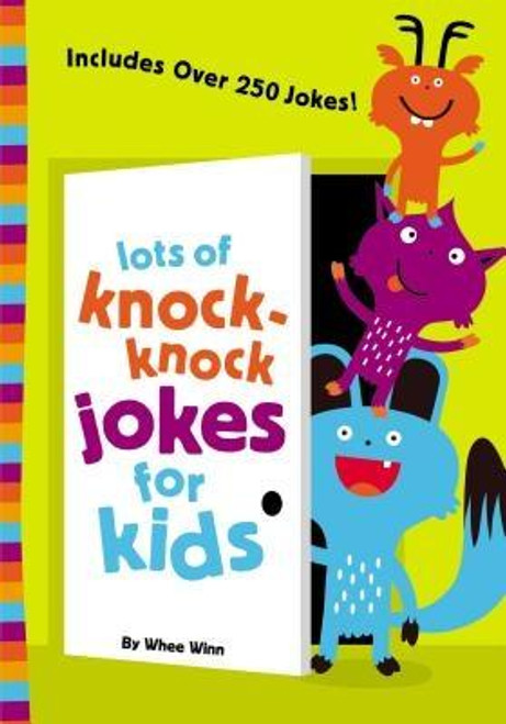<p><strong><em>Lots of Knock-Knock Jokes for Kids</em></strong><strong> is the perfect collection of kid-friendly jokes that will keep you and your friends and family laughing out loud Whether you're stuck in the house or on a road trip, these jokes will have everyone cracking up.</strong></p><p>This collection of jokes is hilarious, clean, and kid-friendly and includes everything from knock-knock jokes, to Q&amp;A jokes, tongue twisters, and a whole lot more. <em>Lots of Knock-Knock Jokes for Kids</em> is certain to have every kid you know laughing out loud, snorting riotously, and generally gasping for air.</p><p><em>Lots of Knock-Knock Jokes for Kids</em> </p><ul> <li>Good for readers of all ages, 6-10 years old</li> <li>Family-friendly jokes</li> <li>Wide variety of joke styles</li> <li>Fun illustrations add to the fun</li> <li>Includes bonus Q&amp;A jokes and riddles</li> </ul><br><br><b>Author:</b> Whee Winn<br><b>Publisher:</b> Zonderkidz<br><b>Published:</b> 02/02/2016<br><b>Pages:</b> 128<br><b>Binding Type:</b> Paperback<br><b>Weight:</b> 0.20lbs<br><b>Size:</b> 6.90h x 4.90w x 0.40d<br><b>ISBN:</b> 9780310750628