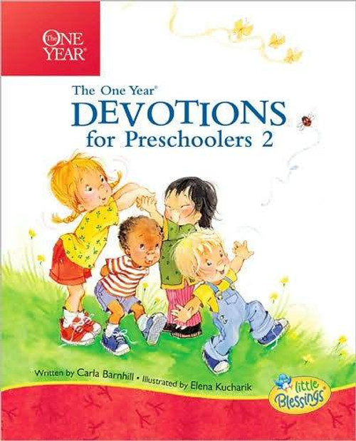 """<p><span style=""""font-weight: 400;"""">The One Year Devotions for Preschoolers 2 uses the Little Blessings characters to help children through easy-to-understand devotions. Each reading pairs a Little Blessings illustration with a short Bible verse and devotional thought that gets you and your child talking about the simple truths of Scripture. A fun, rhyming prayer completes each devotional. This book is a great way to get young children interacting with Scripture daily to learn of God's wonderful promises and timeless truths. Previously published as Blessings Every Day. This is a great devotion book for children ages 3-5.</span></p> <p></p> <ul> <li style=""""font-weight: 400;""""><span style=""""font-weight: 400;"""">Author: Carla Barnhill </span></li> <li style=""""font-weight: 400;""""><span style=""""font-weight: 400;"""">384 Pages</span></li> <li style=""""font-weight: 400;""""><span style=""""font-weight: 400;"""">Dimensions: 6 x 7.30 Inches</span></li> <li style=""""font-weight: 400;""""><span style=""""font-weight: 400;"""">Ages: 3-5 </span></li> </ul>"""