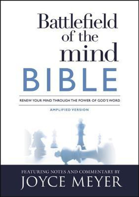 <b>The <i>Battlefield of the Mind Bible</i> will help readers connect the truths of Joyce Meyer's all-time bestselling book, <i>Battlefield of the Mind, </i>to the Bible, and change their lives by changing their thinking.</b> <p></p>Worry, doubt, confusion, depression, anger, and feelings of condemnation. . .all these are attacks on the mind. If you struggle with negative thoughts, take heart  The <i>Battlefield of the Mind Bible</i> will help you win these all-important battles through clear, practical application of God's Word to your life. With notes, commentary, and previously unpublished insights by Joyce Meyer, this Bible is packed with features specifically designed for helping you deal with thousands of thoughts you have every day and focus your mind to think the way God thinks. <p></p>Special Features Include: <p></p><ul> <li>BOOK INTRODUCTIONS -- thoughts on the importance of each book and how it relates to the battlefield of the mind </li> <li>WINNING THE BATTLES OF THE MIND -- core teaching to help you apply specific biblical truths to winning the battle </li> <li>PRAYERS FOR VICTORY -- Scripture-based prayer to help you claim God's guarantee of winning </li> <li>PRAYERS TO RENEW YOUR MIND -- help for you to learn to think the way God thinks </li> <li>KEYS TO A VICTORIOUS LIFE -- practical truths for overcoming mental or emotional challenges </li> <li>POWER POINTS -- insight into how to think, speak, and live victoriously SPEAK GOD'S WORD-first-person Scripture confessions to train your mind for ultimate victory</li> <li>SCRIPTURES ON THOUGHTS AND WORDS -- more than 200 Bible passages that teach you how to think and speak in agreement with God's Word.</li> </ul><br><br><b>Author:</b> Joyce Meyer<br><b>Publisher:</b> Faithwords<br><b>Published:</b> 01/03/2017<br><b>Pages:</b> 1952<br><b>Binding Type:</b> Hardcover<br><b>Weight:</b> 2.80lbs<br><b>Size:</b> 9.10h x 6.50w x 1.90d<br><b>ISBN:</b> 9781455595327