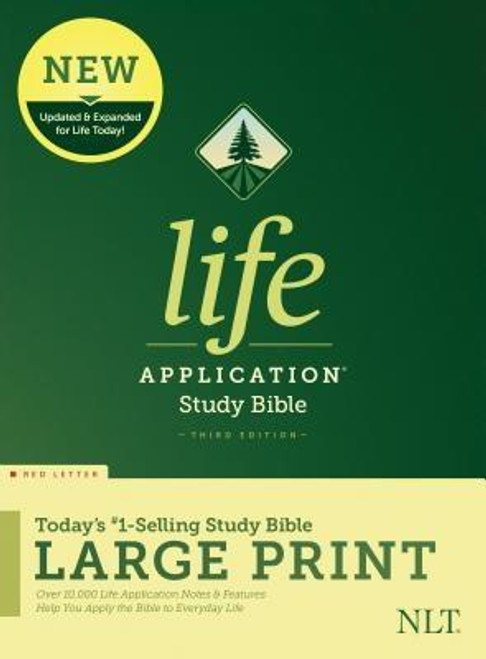 <b><i>Winner of the 2020 Christian Book Award for Bible of the Year </i><br><br>Trusted &amp; Treasured by Millions of Readers over 30 years, the <i>Life Application(R) Study Bible</i> Is Today's #1-Selling Study Bible, and a Bible <i>for All Times.</i></b><br><br>Now it has been <b>thoroughly updated and expanded</b>, offering even more relevant insights for understanding and applying God's Word to everyday life in today's world.<br><br><b>Discover How You Can Apply the Bible to Your Life Today</b><br>Now with a fresh two-color interior design and meaningfully updated study notes and features, this Bible will help you understand God's Word better than ever. It answers questions that you may have about the text and provides you practical yet powerful ways to apply the Bible to your life every day.<br><br>Study the stories and teachings of the Bible with verse-by-verse commentary. Gain wisdom from people in the Bible by exploring their accomplishments and learning from their mistakes. Survey the big picture of each book through overviews, vital statistics, outlines, and timelines, and grasp difficult concepts using in-text maps, charts, and diagrams--all to help you do life God's way, every day.<br><br><b>The Large Print editions are for people who enjoy the enhanced readability of larger text.</b><br><br><b>Features: (Enhanced, updated, and with new content added throughout)</b><ul> <li>Now more than 10,000 <i>Life Application(R)</i> notes and features</li> <li>Over 100 <i>Life Application(R)</i> profiles of key Bible people</li> <li>Introductions and overviews for each book of the Bible</li> <li>More than 500 maps &amp; charts placed for quick reference</li> <li>Dictionary/concordance</li> <li>Extensive side-column cross-reference system to facilitate deeper study</li> <li> <i>Life Application(R)</i> index to notes, charts, maps, and profiles</li> <li>Refreshed design with a second color for visual clarity</li> <li>16 pages of full-color maps</li> <li>Quality Smyth