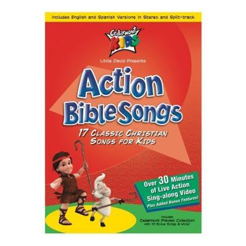 """""""17 Classic Christian Songs for kids.                                                                                          Track Listing: 01 - Zaccheaus 02 - Isnt He Wonderful 03 - Happy All The Time 04 - O Be Careful Little Eyes 05 - Jesus Bids Us Shine 06 - Im In The Lords Army 07 - If Youre Happy 08 - Rise And Shine 09 - Climb Climb Up Sunshine Mountain 10 - Jesus Loves The Little Ones 11 - Father Abraham 12 - One Door And Only One 13 - Swing Low Sweet Chariot 14 - His Banner Over Me Is Love 15 - This Little Light Of Mine 16 - Behold Behold 17 - Onward Christian Soldiers                                                                                                Author: Cedarmont KidsPublisher: Cedarmont KidsPublished: 04/03/2001Binding Type: DVDWeight: 0.25lbsSize: 7.55h x 5.37w x 0.59d ISBN: 0084418221790"""""""