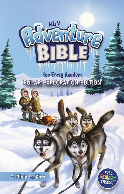 """<p><span data-mce-fragment=""""1"""">With over 9 million copies sold, the Adventure Bible brand is beloved by Christian schools, churches, and families alike. Now, the #1 Bible for kids, including all of its trusted essentials loved by parents, is available in an exciting polar exploration theme!</span></p> <p><strong>Bible Features</strong></p> <p>-Complete text of the New International Reader's Version (NIrV) of the Bible</p> <p>-The same trusted Adventure Bible content in a frosty new theme</p> <p><strong>-</strong>Full-color<span></span>images of polar animals, arctic outposts, and icy landscapes throughout make learning about the Bible even more engaging</p> <p>-Life in Bible Times--Articles and illustrations describe what life was like in ancient days</p> <p>-Words to Treasure--Highlights great verses to memorize</p> <p>-Did You Know?--Interesting facts help you understand God's Word and the life of faith</p> <p>-People in Bible Times--Articles offer close-up looks at amazing people of the Bible</p> <p>-Live It!--Hands-on activities help you apply biblical truths to your life</p> <p>-Twenty polar-themed pagesfocus on topics such as how to know you are a Christian, famous people of the Bible, highlights of the life of Jesus, and how to pray.</p> <p>-Book introductionsfeature arctic art and important information about each book of the Bible</p> <p>-Dictionaryfor looking up tricky words</p> <p>-Color map sectionto help locate places in the Bible</p> <p>-Thrilling arctic cover on metallic paper</p> <p>-8.75-point type size</p> <p></p> <ul> <li>Hardcover</li> <li><span>1.7"""" H x 8.7"""" L x 5.7"""" W (2.4 lbs) </span></li> <li><span>1584 pages</span></li> <li><span>Target Age 6 to 10</span></li> </ul>"""