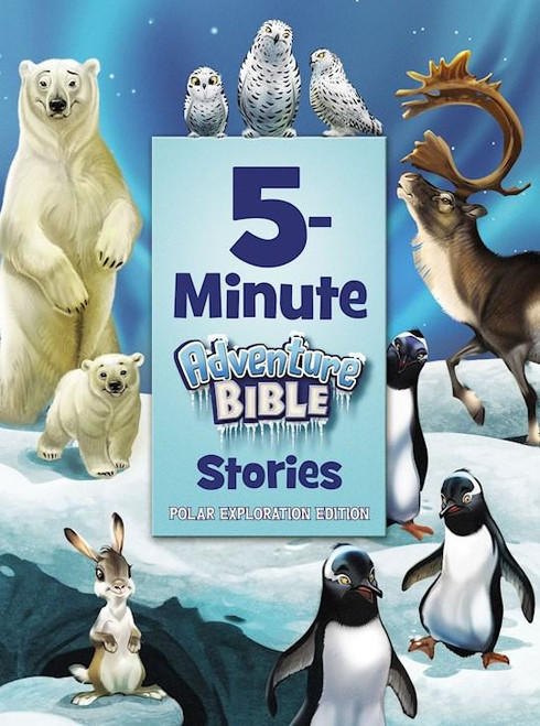 """<p data-mce-fragment=""""1"""">If you're looking for a collection of easy-to-read, easy-to-understand Bible stories that will immerse your children in God's Word over and over again ... you found it! Each of these stories can be shared in just five minutes, making this collection perfect for families on the go, children learning to read, and bedtime. Best of all, the engaging illustrations that go along with each story help make Scripture stick with young readers.</p> <p data-mce-fragment=""""1""""><em data-mce-fragment=""""1"""">5-Minute Adventure Bible Stories, Polar Exploration Edition</em></p> <ul data-mce-fragment=""""1""""> <li data-mce-fragment=""""1"""">Teaches key Bible stories to kids ages 4-8</li> <li data-mce-fragment=""""1"""">Is presented in a quick, easy-to-read format that is ideal for busy families.</li> <li data-mce-fragment=""""1"""">Will be enjoyed by children, parents, and grandparents alike</li> <li data-mce-fragment=""""1"""">Is part of the trusted Adventure Bible brand, the #1 selling Bible for kids with over 9 million copies sold</li> <li data-mce-fragment=""""1"""">Author: Zondervan</li> </ul>"""