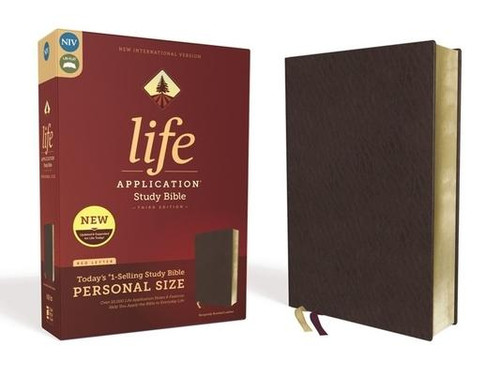 <p><strong>Discover How You Can Apply the Bible to Your Life Today</strong></p><p>Study the stories and teachings of the Bible with verse-by-verse commentary. Gain wisdom from people in the Bible by exploring their accomplishments and learning from their mistakes. Survey the big picture of each book through overviews, vital statistics, outlines, and timelines, and grasp difficult concepts using in-text maps, charts, and diagrams.</p><p>Impacting more than 20 million lives over 30 years, the <strong><em>Life Application(R) Study Bible </em></strong>is the #1-selling study Bible of our generation. Now, it has been thoroughly updated and expanded to be even more helpful and relevant for your life and today's world. </p><p>With a fresh, new interior page design and comprehensively updated study notes and features, this personal size Bible will help you better understand God's Word and provide you with practical ways to apply it to your life every day. The <strong><em>Life Application Study Bible </em></strong>is a Bible for all times </p><p><strong>Features: </strong></p><ul> <li>Enhanced, updated, and with new content added throughout</li> <li>Full text of the accurate, readable, and clear New International Version (NIV)</li> <li>Over 10,000 Life Application notes and other features</li> <li>Over 100 personality profiles</li> <li>Introductions and overviews for each book of the Bible</li> <li>In-text maps, charts, and diagrams</li> <li>Dictionary/concordance</li> <li>More than 500 maps and charts placed for quick reference</li> <li>Extensive side-column cross-reference system to facilitate deeper study</li> <li>Subject index to notes, charts, maps, and profiles</li> <li>Words of Jesus in red</li> <li>Refreshed design with a second color for visual clarity</li> <li>Christian Worker's Resource, a special supplement to enhance the reader's ministry effectiveness</li> <li>16 pages of full-color maps</li> <li>Single-column format</li> <li>Presentation page</li> <li>Two ribb