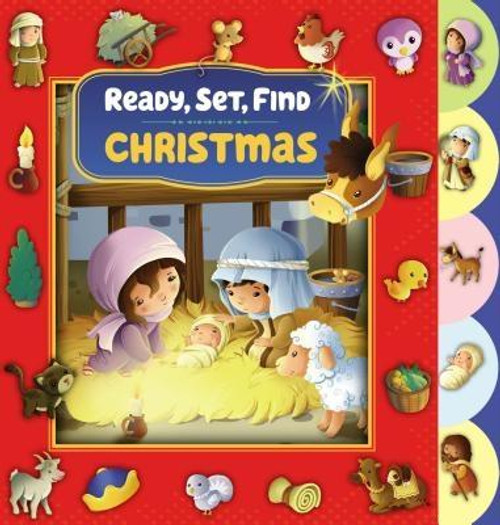 <p>Get ready to follow Mary and Joseph on their way to Bethlehem. They are in a hurry Mary is expecting the baby Jesus and they need your help to find many things along the way. This holiday board book is perfect for young children who will love finding the 48 objects hidden on the pages while reading the classic story of Christmas, accurately retold and with scripture references. On your mark, Ready-Set-Find </p><br><br><b>Author:</b> Zondervan<br><b>Publisher:</b> Zonderkidz<br><b>Published:</b> 10/04/2016<br><b>Pages:</b> 12<br><b>Binding Type:</b> Board Books<br><b>Weight:</b> 0.75lbs<br><b>Size:</b> 7.60h x 7.60w x 0.60d<br><b>ISBN:</b> 9780310757665