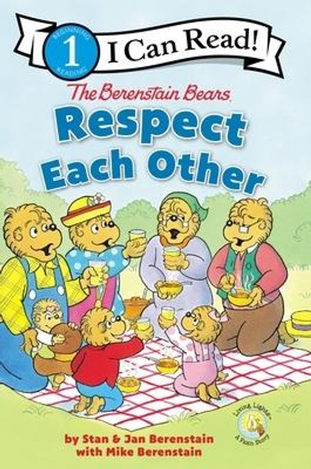 <p>Gramps and Gran go on a picnic with Mama and Papa Bear and the cubs. As the family searches high and low for the perfect picnic spot, they end up learning a few things about good manners and respecting others. <em>The Berenstain Bears Respect Each Other</em> entertains readers while relaying the importance of the golden rule. Young readers will enjoy reading <em>Respect Each Other, </em> the newest Berenstain Bears(R) Living Lights(TM) Level One I Can Read.</p><br><br><b>Author:</b> Stan Berenstain, Jan Berenstain, Mike Berenstain<br><b>Publisher:</b> Zonderkidz<br><b>Published:</b> 09/04/2018<br><b>Pages:</b> 32<br><b>Binding Type:</b> Paperback<br><b>Weight:</b> 0.35lbs<br><b>Size:</b> 8.80h x 5.80w x 0.30d<br><b>ISBN:</b> 9780310760092