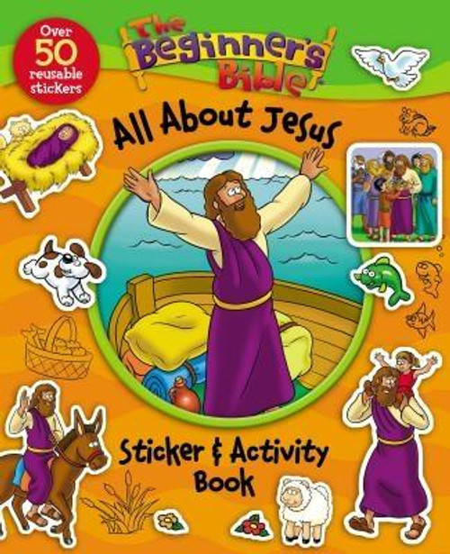 <p><strong>If your family is a fan of <em>The Beginner's Bible</em>, your children will enjoy <em>The Beginner's Bible All About Jesus Sticker and Activity Book</em>, featuring <em>The Beginner's Bible</em> classic art and simply written content. </strong></p><p><strong>Young readers will read, learn, and color their way through stories of the disciples, Mary and Joseph, and other key Bible characters. The life of Jesus connects with young readers through this activity book, which includes: </strong></p><ul> <li>16 pages of fun content and easy-to-read text highlighting the life of Jesus</li> <li>Over 50 reusable stickers</li> <li>Hours of age-appropriate activities, mazes, and puzzles</li> <li>Easy to follow Bible teachings</li> </ul><p><strong><em>The Beginner's Bible All About Jesus Sticker and Activity Book</em></strong><strong> is perfect for: </strong></p><ul> <li>Kids ages 3-7</li> <li>Road trips, Easter baskets, Christmas stocking stuffers, or birthdays</li> <li>Children's ministry small group activity time</li> </ul><br><br><b>Author:</b> Kelly Pulley, Zondervan<br><b>Publisher:</b> Zonderkidz<br><b>Published:</b> 08/04/2015<br><b>Pages:</b> 16<br><b>Binding Type:</b> Paperback<br><b>Weight:</b> 0.20lbs<br><b>Size:</b> 10.50h x 8.50w x 0.15d<br><b>ISBN:</b> 9780310746935