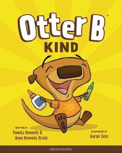 """<i>Otter B Kind</i> is the second in a series of six children's books that are intended to teach young children basic biblical character traits. In this book, Otter is upset when his friend Franklin the frog can't play with him because he's sick. He decides to make Franklin a present to cheer him up. Each book in the series ends with a rhyme that reinforces the book's theme: <br><br>""""Kindness doesn't cost a thing<br>And thoughtfulness is free.<br>So when you have a chance, be kind.<br>It's how you Otter Be """"<br><br><b>Author:</b> Pamela Kennedy, Anne Kennedy Brady<br><b>Publisher:</b> Focus on the Family Publishing<br><b>Published:</b> 05/07/2019<br><b>Pages:</b> 24<br><b>Binding Type:</b> Hardcover<br><b>Weight:</b> 0.56lbs<br><b>Size:</b> 10.10h x 8.10w x 0.30d<br><b>ISBN:</b> 9781589979864"""