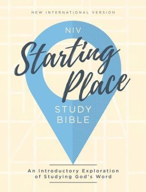 <p><strong>Sometimes the hardest part of beginning is knowing where to start </strong></p><p>The Bible's depth can seem overwhelming, but within the pages of Scripture you will find words of peace, hope, and love waiting for you. The <em>NIV Starting Place Study Bible</em> guides you through Scripture, so you can understand God's love for you and build a relationship with the Savior who longs to know you personally.</p><p>Features: </p><ul> <li>Full text of New International Version (NIV), the translation known for clarity, accuracy, and readability</li> <li>Perfect study Bible for those beginning their Bible journey</li> <li>Ideal gift for new believers</li> <li>88 Bible Characters: Explore the lives of the Bible's most fascinating personalities</li> <li>282 Q&amp;A Notes: Get answers to your most perplexing questions</li> <li>146 Context Notes: In-depth articles on the cultural and historical context of Scripture</li> <li>138 Bible Truths: Core Christian beliefs and their basis in Scripture</li> <li>Book Introductions provide you with a helpful overview of each book of the Bible</li> <li>Over 6,000 study notes explain the text, verse-by-verse</li> <li>Exclusive NIV Zondervan Comfort Print(R) typeface</li> <li>9.7-point print size</li> </ul><br><br><b>Author:</b> Zondervan<br><b>Publisher:</b> Zondervan<br><b>Published:</b> 02/26/2019<br><b>Pages:</b> 1792<br><b>Binding Type:</b> Hardcover<br><b>Weight:</b> 3.20lbs<br><b>Size:</b> 8.60h x 6.40w x 1.90d<br><b>ISBN:</b> 9780310450672