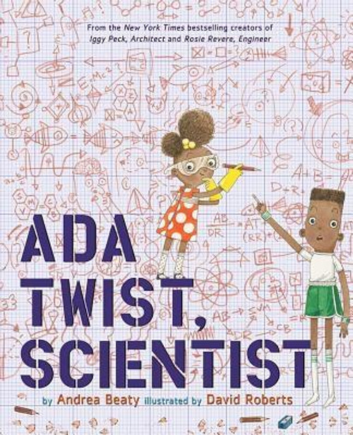 """<b>A #1 <i>New York Times</i> Bestseller<br> A <i>Wall Street Journal </i>Bestseller<br> A <i>USA Today </i>Bestseller<br><br> Inspired by real-life makers Ada Lovelace and Marie Curie, this beloved #1 bestseller champions STEM, girl power and women scientists in a rollicking celebration of curiosity, the power perseverance, and the importance of asking """"Why?"""" </b><br> <br><b>Don't miss Ada's further adventures--with her friends Iggy Peck and Rosie Revere--in the instant <i>New York Times</i> bestseller <i>Rosie Revere and the Raucous Riveters</i>, the first all-new chapter book starring The Questioneers </b><br><br> Ada Twist's head is full of questions. Like her classmates Iggy and Rosie--stars of their own <i>New York Times</i> bestselling picture books <i>Iggy Peck, Architect</i> and <i>Rosie Revere, Engineer</i>--Ada has always been endlessly curious. Even when her fact-finding missions and elaborate scientific experiments don't go as planned, Ada learns the value of thinking her way through problems and continuing to stay curious.<br> <br><b>Collect them all </b> Add these other STEM favorites from #1 <i>New York Times</i> bestselling team Andrea Beaty and David Roberts to your family library today <br> <br><i>Rosie Revere, Engineer</i><br><i>Iggy Peck, Architect </i><br><i>Rosie Revere and the Raucous Riveters</i><br><i>Ada Twist and the Perilous Pants</i><br><i>Ada Twist's Big Project Book for Stellar Scientists</i><br><i>Iggy Peck's Big Project Book for Amazing Architects</i><br><i>Rosie Revere's Big Project Book for Bold Engineers</i><br><br><i>Questioneers Family Calendar</i>, <i> </i>coming May 2019<br><br><b>Author:</b> Andrea Beaty<br><b>Publisher:</b> Harry N. Abrams<br><b>Published:</b> 09/06/2016<br><b>Pages:</b> 32<br><b>Binding Type:</b> Hardcover<br><b>Weight:</b> 1.04lbs<br><b>Size:</b> 11.10h x 9.00w x 0.60d<br><b>ISBN:</b> 9781419721373<br><br><b>Review Citation(s): </b><br><i>Kirkus Reviews</i> 07/15/2016<br><i>Publishers Weekly</i> 08/08/201"""