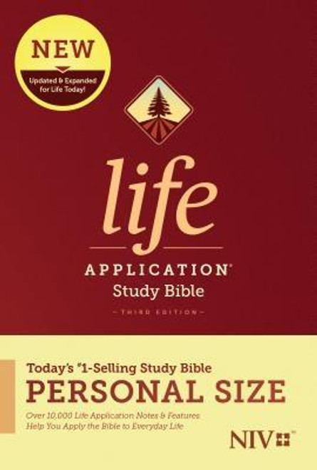 <b>Trusted &amp; Treasured by Millions of Readers over 30 years, the <i>Life Application(R) Study Bible</i> Is Today's #1-Selling Study Bible, and a Bible <i>for All Times.</i></b><br><br>Now it has been <b>thoroughly updated and expanded</b>, offering even more relevant insights for understanding and applying God's Word to everyday life in today's world.<br><br><b>Discover How You Can Apply the Bible to Your Life Today</b><br>Now with a fresh two-color interior design and meaningfully updated study notes and features, this Bible will help you understand God's Word better than ever. It answers questions that you may have about the text and provides you practical yet powerful ways to apply the Bible to your life every day.<br><br>Study the stories and teachings of the Bible with verse-by-verse commentary. Gain wisdom from people in the Bible by exploring their accomplishments and learning from their mistakes. Survey the big picture of each book through overviews, vital statistics, outlines, and timelines, and grasp difficult concepts using in-text maps, charts, and diagrams--all to help you do life God's way, every day.<br><br><b>The Personal Size editions are for people who like to carry their study Bible with them.</b><br><br><b>Features: (Enhanced, updated, and with new content added throughout)</b><br><ul> <li>Now more than 10,000 <i>Life Application(R)</i> notes and features</li> <li>Over 100 <i>Life Application(R)</i> profiles of key Bible people</li> <li>Introductions and overviews for each book of the Bible</li> <li>More than 500 maps &amp; charts placed for quick reference</li> <li>Dictionary/concordance</li> <li>Extensive side-column cross-reference system to facilitate deeper study</li> <li> <i>Life Application(R)</i> index to notes, charts, maps, and profiles</li> <li>Refreshed design with a second color for visual clarity</li> <li>16 pages of full-color maps</li> <li>Quality Smyth-sewn binding--durable, made for frequent use, and lays flat when open</li>
