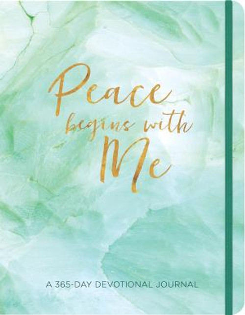 """<p><span style=""""font-weight: 400;"""">A beautiful 365-day devotional journal that will help you spend time with Jesus through quiet time, prayers, and reflection.</span></p> <p><span style=""""font-weight: 400;"""">We pray for peace. We beg for it from others. We make speeches about it. But in the end, the only peace most of us can control is that little portion we display for the world to see. If we are at peace, the chaos around us seems to calm down. Our peace affects others. And the giver of peace awaits to give us the gift that can change our world. It begins with a prayer. It begins with me.</span></p> <p></p> <ul> <li style=""""font-weight: 400;""""><span style=""""font-weight: 400;"""">368 Pages</span></li> <li style=""""font-weight: 400;""""><span style=""""font-weight: 400;"""">Paperback (Vinyl cover)</span></li> <li style=""""font-weight: 400;""""><span style=""""font-weight: 400;"""">Dimensions: 6.75 x 8.5 Inches</span></li> <li style=""""font-weight: 400;""""><span style=""""font-weight: 400;"""">Lay-flat binding</span></li> <li style=""""font-weight: 400;""""><span style=""""font-weight: 400;"""">Daily devotional with lightly ruled space for responses, lists, or journaling</span></li> <li style=""""font-weight: 400;""""><span style=""""font-weight: 400;"""">Closure band</span></li> <li style=""""font-weight: 400;""""><span style=""""font-weight: 400;"""">Presentation page</span></li> </ul>"""