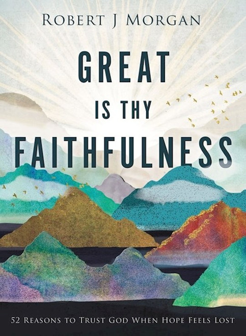 """In times of waiting, grieving, or uncertainty, we sometimes wonder if God will fulfill His promises. InGreat Is Thy Faithfulness, trusted pastor Rob Morgan reminds us through 52 scriptures and devotions that our loving God always follows through on what He says He will do.  No matter your circumstances or feelings, one thing never changes: God is with you. Pastor Rob Morgan discovered this through the years he cared for his wife with multiple sclerosis. Now inGreat Is Thy Faithfulness,Rob draws on that hard-won faith to show us that God is present even in times of transition, loss, or doubt. As you sink into the amazing attributes of God week after week, you will:  Grow in your confidence of who God is Desire to know God more fully Transform your prayer life in light of God's character  Great Is Thy Faithfulnessincludes thoughtful additional features, such as:  A ribbon marker to help you find your place Modern-day and historical stories of God's faithfulness Scripture to enrich your devotional time  With undated entries covering a year of weekly devotions, this beautiful book makes a timely gift for:  A friend going through a difficult time or starting a new season of life New believers eager to strengthen their faith Anyone looking for inspiration to start regular devotional readings  Find rest for your soul as you are assured of God's love and faithfulness. As the psalmist tells us in Psalm 145:13, The Lord is trustworthy in all he promises and faithful in all he does.     Author: Robert J Morgan  Publisher: Thomas Nelson  Published: 09/21/2021  Pages: 224  Binding Type: Hardcover  Weight: 1.05lbs  Size: 0.9"""" H x 7.71"""" L x 5.89"""" W  ISBN:9780718083397"""