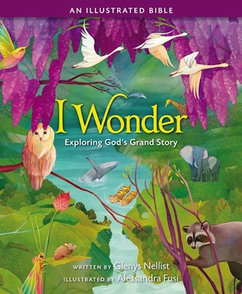 """Through innovative storytelling and open-ended questions,I Wonder: Exploring God's Grand Story an Illustrated Bibleoffers a remarkable approach to teaching young minds to wonder about the mysteries found in God's Word.  TheI Wonder: Exploring God's Grand Story, an Illustrated Bible:  Encourages children ages 4 to 8 to ask important questions and consider the mystery of the Bible Is an inspirational storybook Bible that speaks to the hearts of children everywhere by asking thought-provoking questions at the end of each story that children and adults can read and discuss together as they consider God's love. Is based on a simple but brilliant idea: all good teachers know that the best way to get the attention of their students is to inspire wonder, and God is no different Contains 30 stories--15 from the Old Testament and 15 from the New Testament Is written by Glenys Nellist, bestselling children's author and creator of two popular series: Love Letters from God and Snuggle Time  Ever since imagining the world into being, God has placed wonder in the hearts of children. The Bible is full of 'I Wonder' moments for all who open their hearts to experience them, and TheI Wonder: Exploring God's Grand Storyhelps show little ones how to begin.     Author: Glenys Nellist  Publisher: ZonderKidz  Published: 09/21/2021  Pages:192  Binding Type: Hardcover  Target Age Group: 04 to 08  Size: 0.7"""" H x 8.6"""" L x 7.1"""" W (1.49 lbs)  ISBN: 9780310768302"""