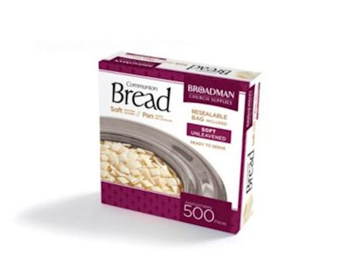 """<p><span data-mce-fragment=""""1"""">Soft in texture and uniformly sized, this crumb-free unleavened Soft Communion Bread is a great timesaver when preparing the Lord's Supper. Packaged in a resealable stay-fresh plastic bag. </span></p> <ul> <li><span data-mce-fragment=""""1"""">Box contains 500 pieces</span></li> </ul>"""