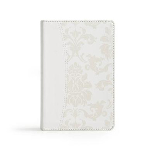 The CSB Bride's Bible features a beautiful satin-like, white pearlescent cover, making this Bible an elegant appointment for the holy occasion of marriage and an exquisite keepsake for the bride. A wonderful gift to be received as the wedding day approaches and cherished for years to come.<br><br> Features include: Special Bride's cover, Presentation section, Gift box, Ribbon marker, Words of Christ in red, and more.<br><br> The CSB Bride's Biblefeatures the highly readable, highly reliable text of the Christian Standard Bible (CSB). The CSB stays as literal as possible to the Bible's original meaning without sacrificing clarity, making it easier to engage with Scripture's life-transforming message and to share it with others.<br><br><b>Author:</b> Csb Bibles by Holman<br><b>Publisher:</b> Holman Bibles<br><b>Published:</b> 07/01/2017<br><b>Pages:</b> 1184<br><b>Binding Type:</b> Imitation Leather<br><b>Weight:</b> 1.05lbs<br><b>Size:</b> 7.40h x 5.20w x 1.20d<br><b>ISBN:</b> 9781433651823