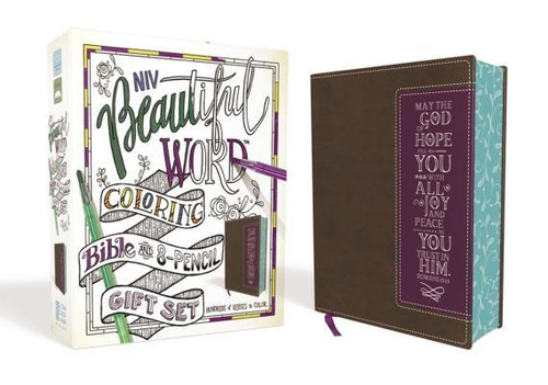 <p><strong>Everything You Need to Begin Your Bible Art Journey</strong></p><p>This gift set holds everything you need to creatively reflect on Scripture. Along with the included eight colored pencils well-suited for Bible paper, the <em>NIV Beautiful Word</em><em>(TM)</em><em> Coloring Bible</em> features hundreds of ready-to-color illustrated verses throughout, along with journal space for your own prayers, notes, and vibrant artistic creations.</p><p>This special Bible art set is a perfect gift that will become a cherished keepsake full of personalized, creative expressions of faith.</p><p>Features of this treasured Bible set include: </p><ul> <li>Eight colored pencils</li> <li>Hundreds of Bible verses illustrated in ready-to-color line art</li> <li>Full text of the accurate, readable, and clear New International Version (NIV)</li> <li>Thicker white paper reduces see-through</li> <li>Lined, wide margins for notes, reflections and art</li> <li>Beautifully designed printed page edges</li> <li>Easy-to-read black letter text in single-column format</li> <li>Ribbon marker</li> <li>8-point type size</li> </ul><br><br><b>Author:</b> Zondervan<br><b>Publisher:</b> Zondervan<br><b>Published:</b> 10/23/2018<br><b>Pages:</b> 1472<br><b>Binding Type:</b> Imitation Leather<br><b>Weight:</b> 3.10lbs<br><b>Size:</b> 9.00h x 8.00w x 2.20d<br><b>ISBN:</b> 9780310452324