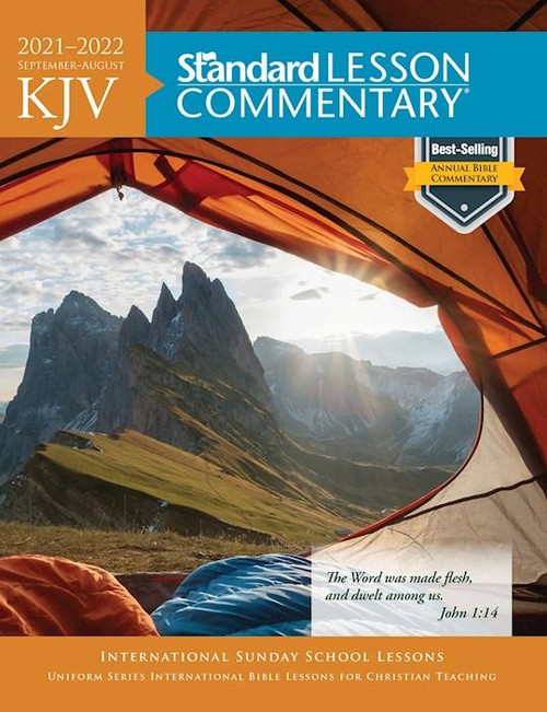 """<p><span data-mce-fragment=""""1"""">September 2021 - August 2022</span></p> <p><span data-mce-fragment=""""1"""">As the world's most popular annual Bible commentary for more than two decades, Standard Lesson Commentary (SLC) provides 52 weeks of study in a single volume and combines thorough Bible study with relevant examples and questions.</span><br data-mce-fragment=""""1""""><br data-mce-fragment=""""1""""><span data-mce-fragment=""""1"""">Key features include:</span><br data-mce-fragment=""""1""""><span data-mce-fragment=""""1"""">Verse-by-verse explanation of the Bible text</span><br data-mce-fragment=""""1""""><span data-mce-fragment=""""1"""">Detailed lesson context</span><br data-mce-fragment=""""1""""><span data-mce-fragment=""""1"""">Pronunciation guide for difficult words</span><br data-mce-fragment=""""1""""><span data-mce-fragment=""""1"""">Printed Scripture</span><br data-mce-fragment=""""1""""><span data-mce-fragment=""""1"""">Discussion starters</span><br data-mce-fragment=""""1""""><span data-mce-fragment=""""1"""">A review quiz for each quarter</span></p> <p><span>Available in the King James Version (KJV) and New International Version® (NIV) Bible translations, the SLC is based on the popular Uniform Series. This series, developed by scholars from numerous church fellowships, outlines an in-depth study of the Bible over a six-year period.</span><br><br><span>The four main themes of the 2021–2022 study are:</span></p> <ul data-mce-fragment=""""1""""> <li data-mce-fragment=""""1""""> <b data-mce-fragment=""""1"""">Celebrating God</b>—Exodus, 2 Samuel, Psalms, Mark, Acts, Revelation</li> <li data-mce-fragment=""""1""""> <b data-mce-fragment=""""1"""">Justice, Law, History</b>—Pentateuch, 2 Samuel, Ezra, Job, Isaiah, Nahum</li> <li data-mce-fragment=""""1""""> <b data-mce-fragment=""""1"""">God Frees and Redeems</b>—Deuteronomy, Ezra, Matthew, John, Romans, Galatians</li> <li data-mce-fragment=""""1""""> <b data-mce-fragment=""""1"""">Partners in a New Creation</b>—Isaiah, John, Revelation</li> </ul> <p><br><span>The SLC is perfect as the primary resource for an adult Sunday School class, for personal st"""