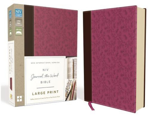 <p>The <em>NIV Journal the Word<em><sup>TM</sup></em> Bible, Large Print</em> allows you to creatively express yourself every day with plenty of room for notes or verse art journaling next to your treasured verses. With unique and sophisticated covers, this single-column large print edition features thick cream-colored paper with lightly ruled lines in the extra-wide margins, perfect to reflect on God's Word and enhance your study.</p><p>Excellent for a gift or for personal use, it can also be a cherished heirloom to pass on to future generations with your personal writings inside </p><p>Features of this treasured Bible include: </p><ul> <li>Lined, wide margins for notes, reflections and art</li> <li>Thicker cream paper for enduring note-taking</li> <li>Full text of the most read, most trusted modern-English Bible - the New International Version (NIV)</li> <li>Large print 10-pt font eliminates strain when reading</li> <li>Easy-to-read black-letter text</li> <li>Lays flat in your hand or on your desk</li> <li>Ribbon marker</li> </ul><br><br><b>Author:</b> Zondervan<br><b>Publisher:</b> Zondervan<br><b>Published:</b> 11/15/2016<br><b>Pages:</b> 1952<br><b>Binding Type:</b> Imitation Leather<br><b>Weight:</b> 3.35lbs<br><b>Size:</b> 8.90h x 7.40w x 2.20d<br><b>ISBN:</b> 9780310445623<br><b>Large Print</b>