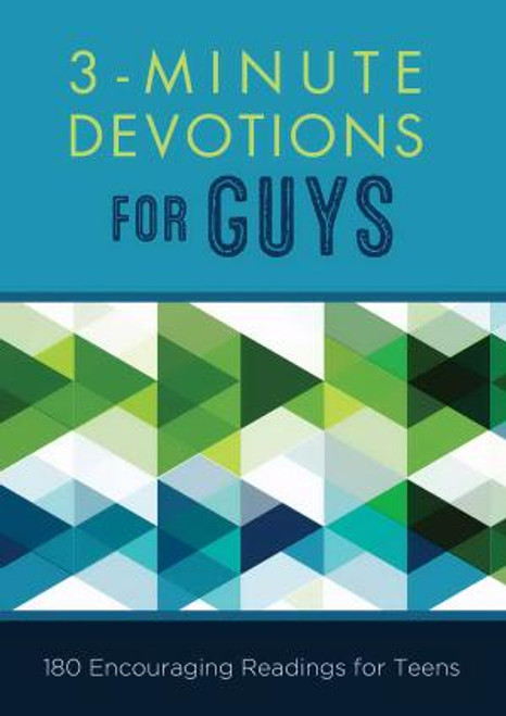 Got 3 minutes? . . .  Three minutes to much-needed wisdom and encouragement--especially for guys. You'll find just the wisdom and encouragement you need in 3-Minute Devotions for Guys. This practical devotional packs a powerful dose of inspiration into 3 short minutes. Minute 1: scripture to meditate on Minute 2: a just-right-sized-for-you devotional reading Minute 3: a prayer to help you jump-start a conversation with God Each day's reading meets you right where you are and is a great way for you to begin or end your day.  Author: Glenn Hascall  192 Pages 4.2 x 6 inches