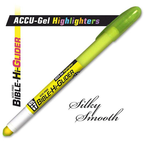 """<span data-mce-fragment=""""1"""">Precisely and smoothly highlight your favorite key Scripture verses with our gel ink highlighters. No bleed ink applies translucent color right where you want it, and won't smear afterwards! Long lasting gel stick; 5.5"""" long with pocket clip for secure storage; twist base application</span>"""