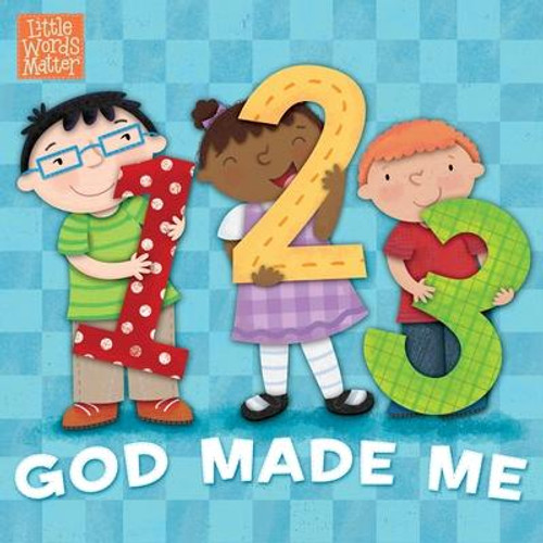<i><b>Count along and you will see how wonderfully God made me </b></i> <p></p> Freckles, fingers, toes, and nose--this delightful counting board book helps toddlers recognize parts of the wonderful bodies God gave us. Count from 1 to 10, and then start over again, thanking God along the way  <p></p><b>Collect all 5 Little Words Matter concept books </b> <p></p><i>Opposites for You and Me</i> <br><i>Which Shape Should I Be?</i> <br><i>All the Colors That I See</i> <br><i>1, 2, 3 God Made Me</i> <br><i>Thank You, God, from A to Z</i> <br><br><br><b>Author:</b> Pamela Kennedy, B&amp;h Kids Editorial<br><b>Publisher:</b> B&amp;H Publishing Group<br><b>Published:</b> 02/01/2018<br><b>Pages:</b> 22<br><b>Binding Type:</b> Board Books<br><b>Weight:</b> 0.65lbs<br><b>Size:</b> 6.20h x 6.20w x 0.70d<br><b>ISBN:</b> 9781462774074