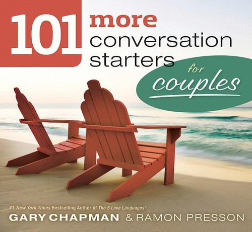 """<p data-mce-fragment=""""1"""">Continue to develop intimacy and depth in your relationship with your spouse with<span data-mce-fragment=""""1""""></span><i data-mce-fragment=""""1"""">101 More Conversation Starters for Couples</i>. Created by marriage experts Gary Chapman, author of the #1<span data-mce-fragment=""""1""""></span><i data-mce-fragment=""""1"""">New York Times<span data-mce-fragment=""""1""""></span></i>bestseller<span data-mce-fragment=""""1""""></span><i data-mce-fragment=""""1"""">The 5 Love Languages</i>, and Ramon Presson, these additional 101 questions are valuable talking points for your marital relationship.</p> <p data-mce-fragment=""""1"""">Learn your spouse's answers to fun and serious questions like:</p> <ul data-mce-fragment=""""1""""> <li data-mce-fragment=""""1"""">What famous person (living) would you like to meet?</li> <li data-mce-fragment=""""1"""">What is something humorous you recall about our first weeks or months of dating?</li> <li data-mce-fragment=""""1"""">If you could free someone of a burden, who would that be?</li> </ul> <p data-mce-fragment=""""1"""">Your spouse is a unique person, filled with amazing insights, thoughts, feelings, and experiences. Communication is key to really knowing and fully loving that person. Let these questions get the conversation flowing.</p> <p data-mce-fragment=""""1""""><i data-mce-fragment=""""1"""">Makes an excellent Valentine's Day, wedding, and anniversary gift</i></p>"""