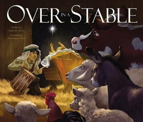 """<p><strong><em>Over in a Stable</em></strong><strong>, written by award-winning author Suzanne Nelson, is a beautiful and engaging Christmas read-aloud for you and your little ones that tells the story of the nativity, featuring the memorable counting and cadence of the beloved classic poem """"Over in the Meadow.""""</strong></p><p>Children ages 4 to 8 will enjoy counting aloud from one little drummer boy to ten little children. <em>Over in a Stable</em> </p><ul> <li>Features vibrant illustrations from artist Aleksandar Zolotic, showing the animals and people who gathered to celebrate the arrival of baby Jesus on that miraculous night in Bethlehem</li> <li>Is a great book for use at church or school services</li> <li>Makes a perfect Advent or Christmas gift</li> </ul><p><em>Over in a stable, though the hour was growing late, </em></p><p><em><em>grazed one mother sheep and her fleecy lambs eight.</em></em></p><p><em><em>""""Give,"""" said the mother.</em> <em>""""We give,"""" said the eight.</em></em></p><p><em><em>And they gave their hay to make a bed to rest a King so great. </em></em></p><p>With a shiny cover that features glitter accents, <em>Over the Stable</em> is a treasured picture book your family will cherish for many years.</p><br><br><b>Author:</b> Suzanne Nelson<br><b>Publisher:</b> Zonderkidz<br><b>Published:</b> 10/06/2020<br><b>Pages:</b> 32<br><b>Binding Type:</b> Hardcover<br><b>Weight:</b> 0.90lbs<br><b>Size:</b> 9.20h x 10.90w x 0.40d<br><b>ISBN:</b> 9780310761129"""