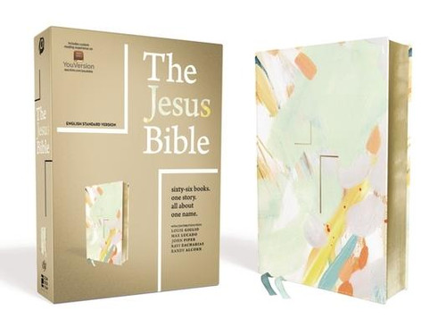 <p><strong>Sixty-Six Books. One Story. All About One Name.</strong></p><p>Encounter the living Jesus in all of Scripture. From the Passion Movement, <em>The Jesus Bible, ESV Edition</em>, with exclusive articles from Louie Giglio, Max Lucado, John Piper, Ravi Zacharias, and Randy Alcorn, lifts Jesus up as the lead story of the Bible.</p><p>Profound yet accessible study features help you meet Jesus throughout Scripture. See him in every book so that you may know him more intimately, love him more passionately, and walk with him more faithfully.</p><p>Features: </p><ul> <li>Introduction by Louie Giglio</li> <li>66 book introductions highlight the story of Jesus in every book</li> <li>Seven compelling essays on the grand narrative of Scripture by Louie Giglio, Max Lucado, John Piper, Ravi Zacharias, and Randy Alcorn guide you to treasure Jesus and encourage you to faithfully follow him as you participate in his story</li> <li>Over 300 full-page articles and nearly 700 sidebar articles reveal Jesus throughout all of Scripture</li> <li>Complete English Standard Version (ESV) text of the Bible</li> <li>A beautiful special edition featuring the art of Atlanta-based artist Britt Bass</li> <li>Room for notes and journaling throughout</li> <li>ESV concordance</li> <li>Two ribbon markers</li> <li>8.7-point type size</li> </ul><br><br><b>Author:</b> Passion, Zondervan<br><b>Publisher:</b> Zondervan<br><b>Published:</b> 10/22/2019<br><b>Pages:</b> 2016<br><b>Binding Type:</b> Imitation Leather<br><b>Weight:</b> 3.60lbs<br><b>Size:</b> 9.40h x 7.40w x 2.40d<br><b>ISBN:</b> 9780310453093