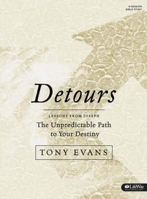 """<i>Detours Bible Study Book</i> includes suggestions for six small-group sessions, weekly individual-study experiences, applicable Scripture, """"How to Use This Study,"""" and tips for leading a group. <p></p> The biblical account of Joseph clearly demonstrates that God is at work even when life seems to be going wrong. It depicts a young man who endured betrayal, abandonment, injustice, and confusion before understanding God's sovereign plan to redirect him from the pit to the palace. Even today it's easy to wonder why God would allow calamity to happen or if He's in control at all. Whether through uncontrollable circumstances or the pain of personal relationships, everyone has experienced unforeseen changes in life. This study helps believers navigate detours that may take you through trials, injustice, and even betrayal. You will be comforted and encouraged when you learn to rest in God's redemptive plan and the hope found in God's sovereign will. <p></p> Session Topics: <br> The Purpose of Detours <br> The Proof of Detours <br> The Patience of Detours <br> The Pain of Detours <br> The Promotion of Detours <br> The Perspective of Detours <p></p> Features: <br> - Group and personal components <br> - Leader tips <br> - Individual-study opportunities for ongoing spiritual growth <p></p> Benefits: <br> - Discover hope in knowing that life's sudden detours represent ways God moves us to the place He wants us to be. <br> - Identify ways God redeems even the things that go wrong in our lives. <br> - Get a more intimate understanding of the biblical account of Joseph. <br> - Learn to endure the uncontrollable and unforeseen events that invade your life. <br> - Realize that trusting in God's sovereignty will help you navigate betrayal, abandonment, and injustice.<br><br><b>Author:</b> Tony Evans<br><b>Publisher:</b> Lifeway Church Resources<br><b>Published:</b> 01/02/2017<br><b>Pages:</b> 160<br><b>Binding Type:</b> Paperback<br><b>Weight:</b> 0.70lbs<br><b>Size:</b> 9.40h x 7"""
