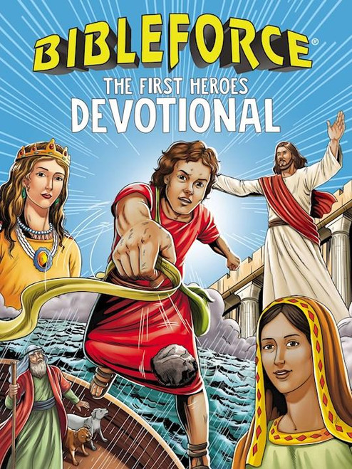 """<p><span data-mce-fragment=""""1"""">BibleForce Devotionalincludes 100 devotions based on the heroes of the Bible with the popular comic-style action art, facts about each hero, Scriptures, and action items that help kids connect God's Word to their lives today. As kids read about the heroes of the Bible, they'll see ways they can be heroes for God as well. BibleForce Devotionaloffers a fresh, bright graphic-novel style that will interest boys and girls alike and will be the perfect way to engage young readers who want an active, exciting devotional. It's a great book to read together and is simple enough for young readers to read on their own. Kids won't be able to put down this book! Jump into the story of God's Word, and become an amazing hero for God today with BibleForce Devotional!</span></p> <ul> <li><span>Author:Tama Fortner</span></li> <li><span>0.6"""" H x 9.1"""" L x 6.9"""" W (1.55 lbs)</span></li> <li><span> 224 pages</span></li> <li><span>Target Age:6 to 10</span></li> </ul>"""
