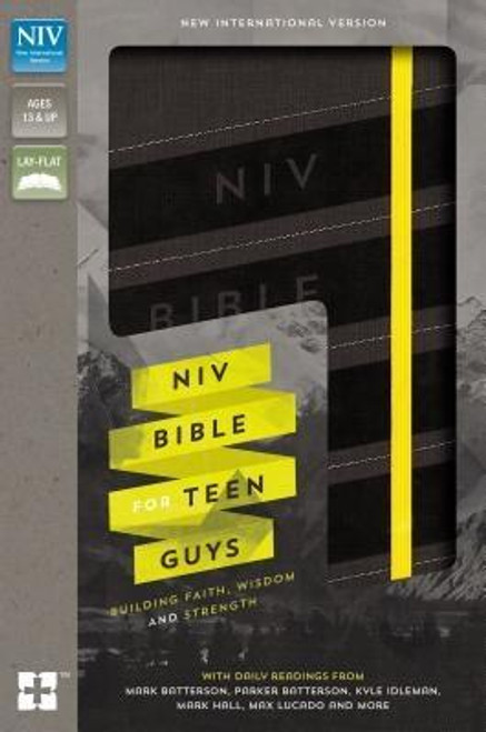 <p><strong>Support his personal devotion time with tools and insights from leading authors and Christian thinkers like Mark Batterson, Kyle Idleman, Mark Hall, Max Lucado, and more</strong></p><p>The <em>NIV Bible for Teen Guys</em>, designed specifically for guys ages 13 to 18, is for real teenage guys with real lives. Packed with daily readings, highlighted promises of God, challenging insights, smart advice, and open discussion about the realities of life, this Bible is designed to help teen guys grow in their faith. The <em>NIV Bible for Teen Guys </em>is as serious about his walk with God as you are, helping him discover God's will for all areas of his life, including relating to family, dealing with friends, work, sports, girls, and so much more.</p><p>Features include: </p><ul> <li>Daily readings for teen guys by popular Christian male authors (Mark Batterson, Kyle Idleman, Mark Hall, Max Lucado, and more)</li> <li>Character profiles of men in the Bible</li> <li>Book introductions for each book of the Bible</li> <li>Highlighted promises of God: verses worth remembering</li> <li>A concordance for help in finding verses</li> <li>The complete text of the bestselling New International Version (NIV) of the Bible</li> </ul><br><br><b>Author:</b> Zondervan<br><b>Publisher:</b> Zondervan<br><b>Published:</b> 10/11/2016<br><b>Pages:</b> 1728<br><b>Binding Type:</b> Imitation Leather<br><b>Weight:</b> 2.65lbs<br><b>Size:</b> 9.30h x 6.30w x 2.00d<br><b>ISBN:</b> 9780310753025