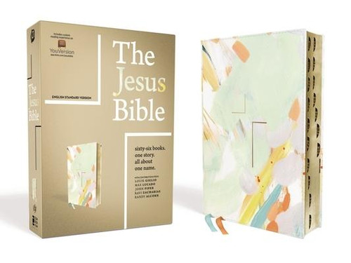 <p><strong>Sixty-Six Books. One Story. All About One Name.</strong></p><p>Encounter the living Jesus in all of Scripture. From the Passion Movement, <em>The Jesus Bible, ESV Edition</em>, with exclusive articles from Louie Giglio, Max Lucado, John Piper, Ravi Zacharias, and Randy Alcorn, lifts Jesus up as the lead story of the Bible.</p><p>Profound yet accessible study features help you meet Jesus throughout Scripture. See him in every book so that you may know him more intimately, love him more passionately, and walk with him more faithfully.</p><p>Features: </p><ul> <li>Introduction by Louie Giglio</li> <li>66 book introductions highlight the story of Jesus in every book</li> <li>Seven compelling essays on the grand narrative of Scripture by Louie Giglio, Max Lucado, John Piper, Ravi Zacharias, and Randy Alcorn guide you to treasure Jesus and encourage you to faithfully follow him as you participate in his story</li> <li>Over 300 full-page articles and nearly 700 sidebar articles reveal Jesus throughout all of Scripture</li> <li>Complete English Standard Version (ESV) text of the Bible</li> <li>Cover art by Britt Bass</li> <li>Room for notes and journaling throughout</li> <li>ESV concordance</li> <li>Two ribbon markers</li> </ul><br><br><b>Author:</b> Passion, Zondervan<br><b>Publisher:</b> Zondervan<br><b>Published:</b> 10/22/2019<br><b>Pages:</b> 2016<br><b>Binding Type:</b> Imitation Leather<br><b>Weight:</b> 3.70lbs<br><b>Size:</b> 9.50h x 7.40w x 2.30d<br><b>ISBN:</b> 9780310453109