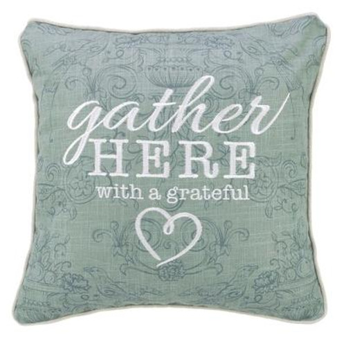 Use this beautiful pillow as an accent pillow on a couch, chair, or bed.  <br><b> Material:</b> 100% polyester with a polyester filling inside<br><b>Weight:</b> 1.28lbs<br><b>Size:</b> 15.90h x 17.40w x 1.30d<br><b>ISBN:</b> 0843310100783