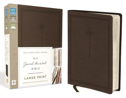 <p>The <em>NIV Journal the Word<em><sup>TM</sup></em> Bible, Large Print</em> allows you to creatively express yourself every day with plenty of room for notes or verse art journaling next to your treasured verses. With unique and sophisticated covers, this single-column large print edition features thick cream-colored paper with lightly ruled lines in the extra-wide margins, perfect to reflect on God's Word and enhance your study.</p><p>Excellent for a gift or for personal use, it can also be a cherished heirloom to pass on to future generations with your personal writings inside </p><p>Features of this treasured Bible include: </p><ul> <li>Lined, wide margins for notes, reflections and art</li> <li>Thicker cream paper for enduring note-taking</li> <li>Full text of the most read, most trusted modern-English Bible - the New International Version (NIV)</li> <li>Large print 10-pt font eliminates strain when reading</li> <li>Easy-to-read black-letter text</li> <li>Lays flat in your hand or on your desk</li> <li>Ribbon marker</li> </ul><br><br><b>Author:</b> Zondervan<br><b>Publisher:</b> Zondervan<br><b>Published:</b> 11/15/2016<br><b>Pages:</b> 1952<br><b>Binding Type:</b> Imitation Leather<br><b>Weight:</b> 3.30lbs<br><b>Size:</b> 8.90h x 7.30w x 2.20d<br><b>ISBN:</b> 9780310445593<br><b>Large Print</b>