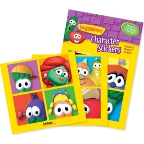 Sticker - Veggie Tale Characters-Assorted (Pack of 10)<br><b>Author:</b> Tabbies<br><b>Publisher:</b> Tabbies<br><b>Published:</b> 11/19/2010<br><b>Binding Type:</b> Novelty<br><b>Weight:</b> 0.05lbs<br><b>Size:</b> 4.25h x 5.80w x 0.10d<br><b>ISBN:</b> 0084371284016
