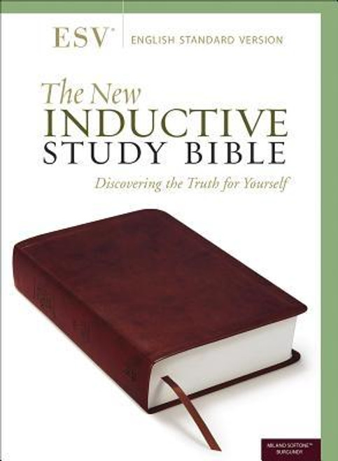 <p>This edition of the Gold-Medallion-winning <i>New Inductive Study Bible</i> (over 700,000 sold) is now available in the trusted English Standard Version.</p><p>This Bible is based entirely on the inductive study approach, leading readers directly back to the source and allowing God's Word to become its own commentary. Its many exceptional features include...</p><ul> <li>the 2011 ESV text, an essentially literal translation that seeks to capture the precise wording of the original text and the personal style of each Bible writer</li> <li>a 32-page explanation of the inductive study method, teaching readers how to observe, interpret, and apply the text to their everyday lives</li> <li>four full-color pages with step-by-step instructions for studying and marking the text</li> <li>individualized instructions for every book of the Bible</li> <li>24 pages of full-color charts and maps and dozens of unique study helps</li> </ul><p>This Bible gives believers all the tools they need to discover the riches of God's Word </p><br><br><b>Author:</b> Precept Ministries International<br><b>Publisher:</b> Harvest House Publishers<br><b>Published:</b> 12/10/2019<br><b>Pages:</b> 2360<br><b>Binding Type:</b> Imitation Leather<br><b>Weight:</b> 3.48lbs<br><b>Size:</b> 9.80h x 6.80w x 2.30d<br><b>ISBN:</b> 9780736979214