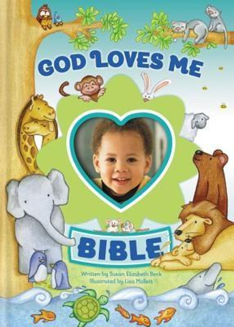 """<p>The <em>God Loves Me Bible</em> is filled with simple, action-filled stories about the lives of more than fifty favorite Bible characters, including Noah, Moses, Jesus, and the disciples. Each story emphasizes the overriding theme of the Bible: God loves his world, his people, and """"me """"</p><p>Slip your child's photo into the picture frame on the cover as a constant reminder of God's love for him.</p><br><br><b>Author:</b> Susan Elizabeth Beck<br><b>Publisher:</b> Zonderkidz<br><b>Published:</b> 08/25/2013<br><b>Pages:</b> 128<br><b>Binding Type:</b> Hardcover<br><b>Weight:</b> 0.55lbs<br><b>Size:</b> 6.80h x 4.90w x 0.60d<br><b>ISBN:</b> 9780310743743"""