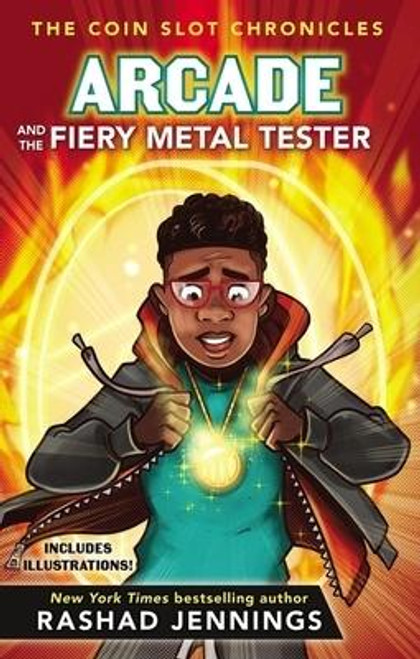 """<p><strong>New York City is experiencing the hottest summer on record. Eleven-year-old Arcade Livingston can't keep his cool after receiving this suspicious warning atop the Empire State Building: """"Things will heat up in all areas to test your mettle."""" </strong><strong><em>Arcade and the Fiery Metal Tester</em></strong><strong> is the third book in the humorous and imaginative Coin Slot Chronicles series by <em>New York Times</em> bestselling author, former NFL running back, and <em>Dancing with the Stars</em> champion Rashad Jennings.</strong></p><p>In no time flat, Arcade is tested like never before as he needs to use the Triple T token's powerful ways to outsmart a bully, find a place for his best friend to live, and spy on some pesky villains from the 1900s. Meanwhile, sister Zoe thinks controlling the token is nothing but a path to disaster.</p><p>One thing's for sure, the token continues its flashing and pulsing. And elevator doors continue to transport Arcade, Zoe, and their friends to meet different people in strange locations--people who will challenge them, teach them, and inspire them to grow in patience and compassion.</p><p>And just as a trip through a fiery furnace is necessary to purify gold, the token leads Arcade through superheated situations to test the purity of his heart.</p><p>Written and designed for reluctant readers, with shorter chapters and meaningful illustrations throughout the book. <em>Arcade and the Fiery Metal Tester </em>teaches children ages 8 and up: </p><ul> <li>How to grow in patience</li> <li>How to grow in compassion for others and ourselves</li> </ul><p>If you enjoy <em>Arcade and the Fiery Metal Tester</em>, check out the rest of the series: <em>Arcade and the Triple T Token</em>, <em>Arcade and the Golden Travel Guide</em>, and <em>Arcade and the Dazzling Truth Detector.</em></p><br><br><b>Author:</b> Rashad Jennings<br><b>Publisher:</b> Zonderkidz<br><b>Published:</b> 02/11/2020<br><b>Pages:</b> 256<br><b>Binding Type:</b>"""