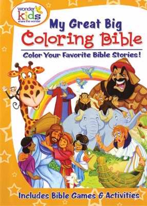 """<p><span style=""""font-weight: 400;"""">Discover nearly a dozen Bible stories with this coloring and activity book—creation, Noah's ark, Joseph and his coat, Abraham and Isaac, Moses, Jonah, David, parables and lessons of Jesus, and Jesus' crucifixion and resurrection! Help your children develop eye–hand coordination and encourage quiet time while also promoting Bible literacy.</span></p> <p><span style=""""font-weight: 400;"""">Great for every day, gift-giving, and quiet bags. Perfect for children of all ages.</span></p> <p></p> <ul> <li style=""""font-weight: 400;""""><span style=""""font-weight: 400;"""">192 Pages</span></li> </ul>"""