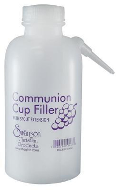<b>This durable 16oz squeeze bottle simplifies communion-tray preparation. This squeeze bottle has measurement marks and non-drip spout. Filler measures up to 100 glasses. To operate squeeze slowly. This bottle and spout are not intended for high-pressure squeezing. To clean - wash with hot, soapy water between each use.<br><b>Author:</b> Swanson Christian Products<br><b>Publisher:</b> Swanson Christian Products<br><b>Published:</b> 09/01/2012<br><b>Binding Type:</b> Other<br><b>Weight:</b> 0.15lbs<br><b>Size:</b> 7.00h x 3.00w x 3.25d<br><b>ISBN:</b> 0788200564873</b>