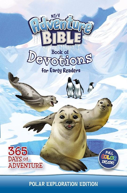 """<p><span data-mce-fragment=""""1"""">From the bestselling Adventure Bible brand comes an all-new devotional, the NIRV Adventure Bible Book of Devotions for Early Readers: Polar Exploration Edition which uses 365 days of real world messages and fascinating features to capture the imagination of kids ages 6-10, teach them about God, and help them live a life of faith.</span></p> <p></p>"""