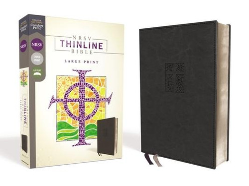 <p><strong>Easy to Read. Easy to Carry.</strong></p><p>With a new, easy-to-read typeface, the <em>NRSV Thinline Bible Large Print</em> invites you to deeply explore Scripture. Expertly designed for the New Revised Standard Version (NRSV) text, Comfort Print(R) delivers a smooth reading experience that complements the foremost Bible translation vetted by Protestant, Catholic, Orthodox, Evangelical, and Jewish scholars. Renowned for its beautiful balance of scholarship and readability, the NRSV faithfully serves the church in personal spiritual formation, in the liturgy, and in the academy.</p><p>Features: </p><ul> <li>The text of the New Revised Standard Version (Protestant canon), vetted by an ecumenical pool of Christian academics and renowned for its beautiful balance of scholarship and readability</li> <li>Exclusive Zondervan NRSV Comfort Print(R) typeface</li> <li>Less than one inch thick</li> <li>Double-column format</li> <li>Presentation page</li> <li>Two satin ribbon markers</li> <li>12.4-point print size</li> </ul><br><br><b>Author:</b> Zondervan<br><b>Publisher:</b> Zondervan<br><b>Published:</b> 04/23/2019<br><b>Pages:</b> 1248<br><b>Binding Type:</b> Imitation Leather<br><b>Weight:</b> 1.70lbs<br><b>Size:</b> 9.50h x 6.80w x 1.10d<br><b>ISBN:</b> 9780310452478<br><b>Large Print</b>
