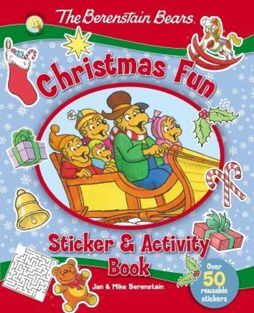 <p>The Berenstain Bears come to life this holiday season with puzzles, activity pages, and more than 50 reusable stickers in The Berenstain Bears' Christmas Fun Sticker and Activity Book.</p><p>Featuring Papa, Mama, Brother, Sister, and Honey and the rest of the Bear Country gang, kids are sure to find lots to do helping Honey Bear find the missing piece of the Bear family Nativity scene, doing crosswords and word searches with Brother and Sister, and even helping out at the Christmas Eve service at Chapel in the Woods.</p><br><br><b>Author:</b> Jan Berenstain, Mike Berenstain<br><b>Publisher:</b> Zonderkidz<br><b>Published:</b> 10/11/2016<br><b>Pages:</b> 32<br><b>Binding Type:</b> Paperback<br><b>Weight:</b> 0.30lbs<br><b>Size:</b> 10.44h x 8.50w x 0.19d<br><b>ISBN:</b> 9780310753841