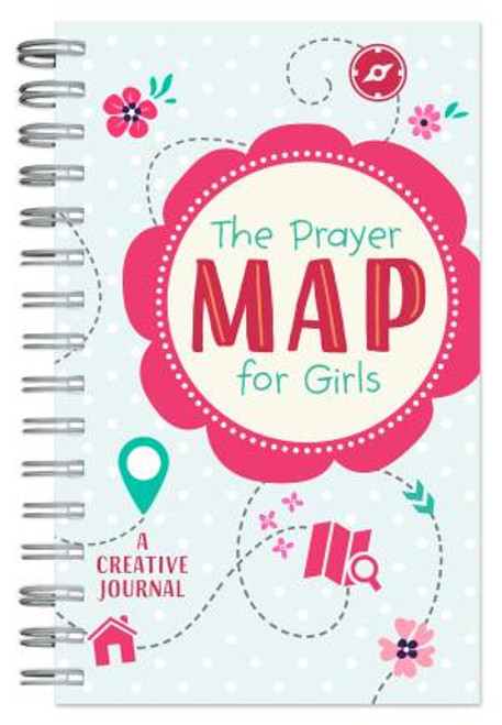 """<div> <span style=""""font-weight: 400;"""">This unique prayer journal is a fun and creative way for the girls in your life to understand the importance and experience the power of prayer. </span><i>The Prayer Map for Girls</i> <span style=""""font-weight: 400;"""">will not only encourage the girls in your life to spend time talking with God about the things that matter most but it will also help them build a healthy spiritual habit of continual prayer for life. Designed for girls ages 8-12.</span> </div> <div><span style=""""font-weight: 400;""""></span></div> <div><span style=""""font-weight: 400;""""></span></div> <div> <ul> <li><span>Author: Barbour Publishing Company </span></li> <li><span>176 Pages</span></li> <li><span>Spiral Bound and Paperback </span></li> <li><span>Dimensions: 8 x 5 Inches</span></li> </ul> </div>"""